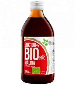 250ml Sok 100% malina Bio - EKAMEDICA FOOD